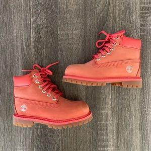 "SZ 9 Toddler Girls Timberland 6"" Premium WP Boots"